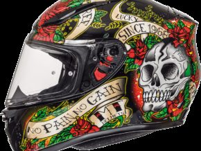 Skull & Rose Brillo Negro Rojo