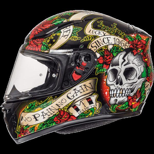 Skull & Rose Brillo Negro Rojo