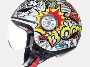 MT Helmets Urban Kid Street Art Brillo Blanco Perla Amarillo Flúor Rojo