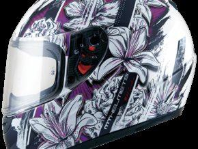 MT Helmets Thunder Kid Wild Garden Brillo Púrpura Perla