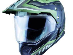 MT Helmets Synchrony Duosport SV Tourer Mate Verde Militar Negro